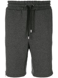Versus Logo Bands Track Shorts Cotton Polyester M Grey