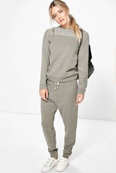Boohoo Vintage Loop Back Lounge Tracksuit Grey