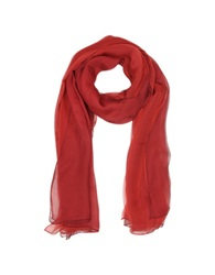 Laura Biagiotti Double Chiffon Silk Stole Red
