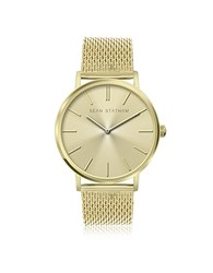 Sean Statham Goldtone Stainless Steel Unisex Quartz Watch W Golden Dial