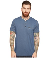 Hurley Lagos Dri Fit Lagos Henley Squadron Blue Men's Clothing