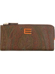 Etro Paisley Print Wallet Brown