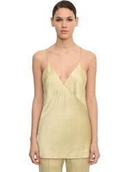 Haider Ackermann Shiny Viscose Blend Camisole Top Light Yellow