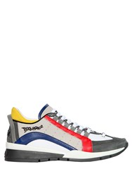 Dsquared Multicolor Leather And Nylon Sneakers
