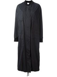 Dkny Long Bomber Parka Black