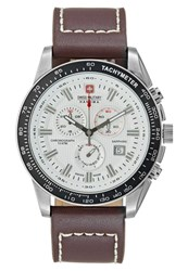 Swiss Military Hanowa Crusader Chronograph Watch Brown