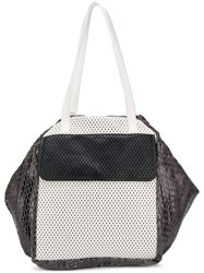 Carmina Campus Oversized Colour Block Tote Grey