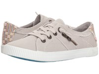 Blowfish Fruit Sand Grey Smoked Canvas Lace Up Casual Shoes Gray