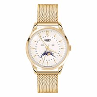 Henry London Unisex 39Mm Westminster Moonphase Stainless Steel Bracelet Watch Neutrals Gold