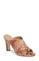 Johnston And Murphy Carrie Mule Sandal Coral Leather
