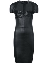 Jitrois Cap Sleeve Dress Women Leather 40 Black