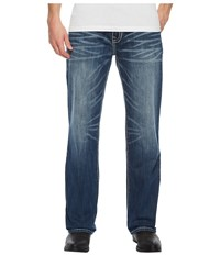 Rock And Roll Cowboy Double Barrel In Medium Wash M0s5122 Medium Wash Jeans Navy
