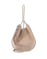 Alexander Wang Roxy Refined Suede Hobo Bag Cashmere