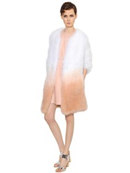 Yves Salomon Gradient Fox Fur Coat