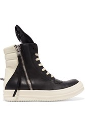 Rick Owens Cyclops Leather Sneakers Black