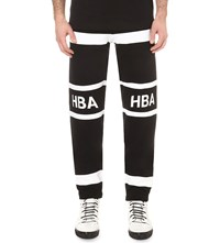 Hood By Air Stripe Logo Cotton Jersey Jogging Bottoms Black
