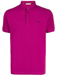 Etro Logo Detail Cotton Polo Shirt 60