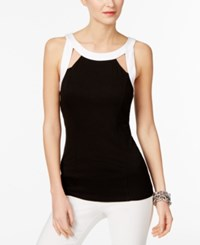 Inc International Concepts Cutout Halter Top Only At Macy's Deep Black