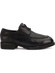 Guidi Lace Up Derby Shoes Leather Black