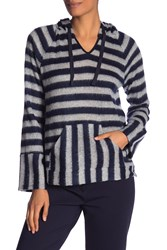 Vince Camuto Fuzzy Stripe Hoodie Classic Na