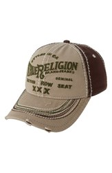 True Religion Men's Brand Jeans 'Triple X' Baseball Cap Beige Light Khaki