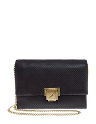 Brian Atwood Jilly Leather Clutch Black