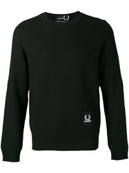 Fred Perry Raf Simons X Logo Patch Sweatshirt Men Acrylic Wool 36 Black