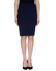 Roccobarocco Knee Length Skirts Blue