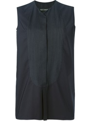 Ter Et Bantine Pinstripe Panel Top Black