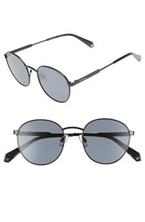 Polaroid Women's 51Mm Polarized Round Sunglasses Black