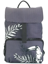 Zanellato Tucan Print Backpack Brown