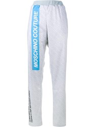 Moschino Pill Packet Track Pants Grey