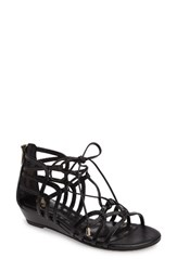 Isola Women's Elisia Lace Up Sandal Black Leather