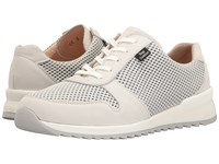 Finn Comfort Sidonia Bianco White Nubuck Skipper Women's Lace Up Casual Shoes Beige