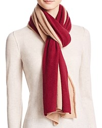 Bloomingdale's C By Cashmere Angelina Two Tone Scarf Camel Pinot
