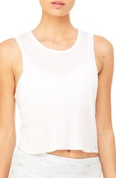 Alo Yoga Women's Air Crop Muscle Tank White