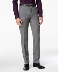 Bar Iii Men's Slim Fit Medium Gray Textured Tuxedo Pants Only At Macy's