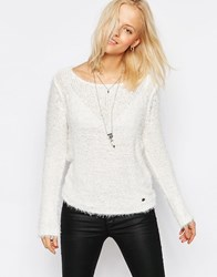 Only Perfect Fluffy Knit Jumper In White Perfect Fluffy