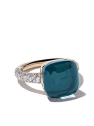 Pomellato 18Kt Rose And White Gold Nudo Topaz And Diamond Ring Unavailable