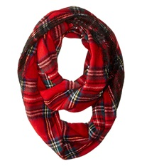 Betsey Johnson Pop Tartan Lace Infinity Red Caps