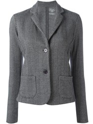 Majestic Filatures Herringbone Pattern Blazer Grey