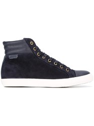 Polo Ralph Lauren Padded Detail Hi Tops Blue