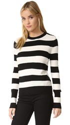 Rag And Bone Careen Cashmere Sweater White Black