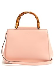 Gucci Angel Bamboo Handle Small Leather Tote Light Pink