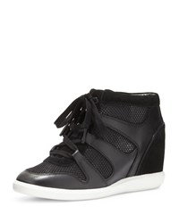 Michael Michael Kors Astrid High Top Wedge Sneaker Black