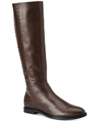 Calvin Klein Donnily Riding Boots Women's Shoes Brown