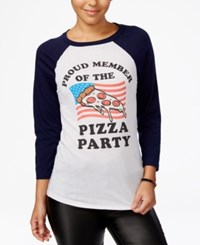 Mighty Fine Juniors' Pizza Party Member Graphic Ragaln Linen