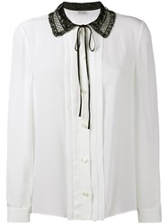 Miu Miu Lace Collar Blouse White