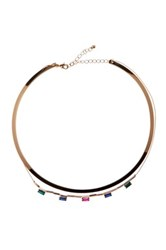 14Th And Union Baguette Layered Collar Necklace Pnk Multi Gold