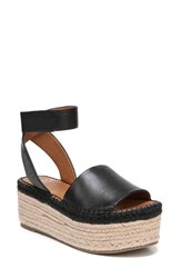 Sarto By Franco Sarto 'S Maisi Platform Espadrille Sandal Black Leather
